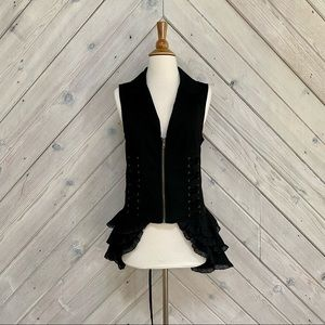 Spin Doctor Vest With Side Ruffles